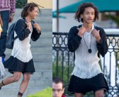 Was that Will Smith's son Jaden wearing a dress