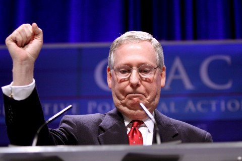 Senate Majority Leader Mitch McConnell who insisted this week that Scalia's successor be chosen by the next president