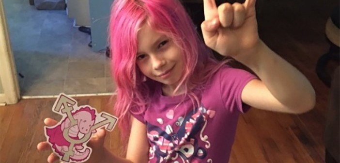 Transgender girl kickstarts a blue, pink and white house next to Westboro Baptist Church