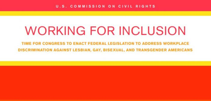 Title page of USCCR Report on LGBT protection.