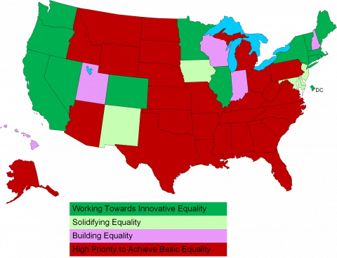 HRC State Equality Index Map