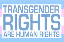 flag with imprint Transgender Rights are Human Rights
