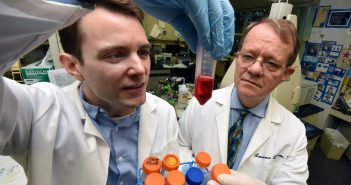 Drs. J. Graham Theisen (left) and Lawrence C. Layman (Phil Jones/Augusta University)